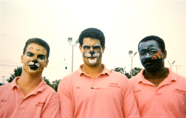 3 guys with face paintings