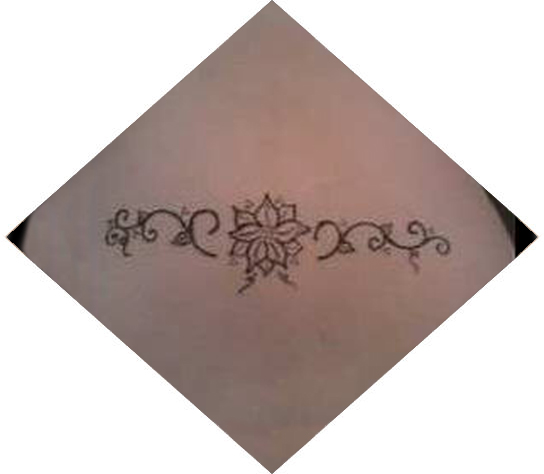 Henna tattoo on lower back