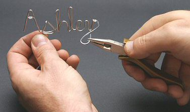 Handcrafted 3d wire names created at your next party!